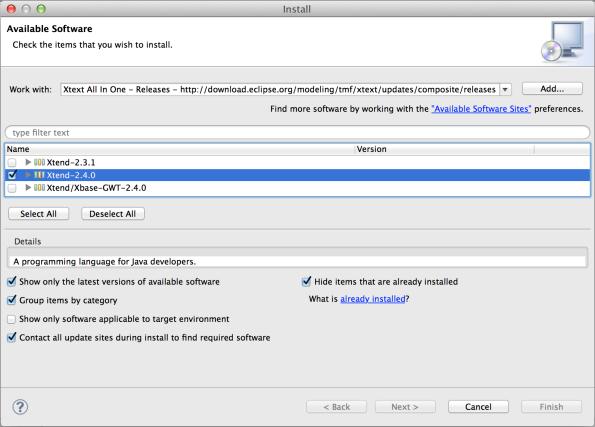 Install Xtend 2.4.0